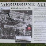 Saint-Laurent-sur-Mer, stèle aérodrome A21C