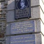 Saint-Lô, plaque Résistants & général de Gaulle