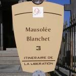 Saint-Lô, panneau mausolée Blanchet