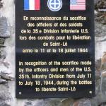 Saint-Lô, plaque 35th Infantry Division