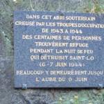Saint-Lô, plaque hôpital souterrain