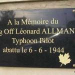 Saint-Manvieu-Norrey, plaque Léonard Allman