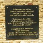 Sannerville, plaque combattants bataille de Normandie