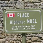 Tailleville, plaque Alphonse Noël