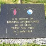Tessy-sur-Vire, plaque troupes américaines