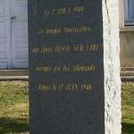 Tessy-sur-Vire, stèle troupes américaines