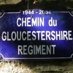 Thury-Harcourt, plaque Gloucestershire Regiment
