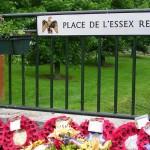 Tilly-sur-Seulles, plaque 2nd Battalion Essex Regiment
