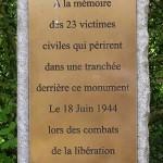 Tilly-sur-Seulles, stèle victimes civiles