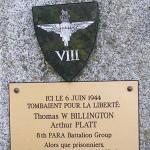 Touffréville, stèle Billington & Platt