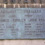 Trévières, plaque victimes civiles