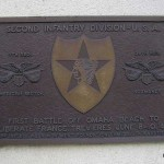 Trévières, plaque 2nd Infantry Division