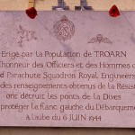Troarn, plaque 3rd parachute Squadron RE