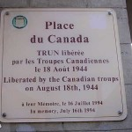 Trun, plaque troupes canadiennes