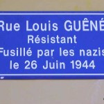 Trun, plaque Louis Guêné