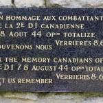 Saint-Martin-de-Fontenay - Verrières, plaque 2nd Infantry Division