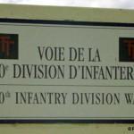 Ver-sur-Mer, panneau voie de la 50th Infantry Division
