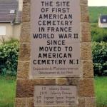 Vierville-sur-Mer, stèle cimetière américain