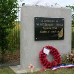 Vieux, stèle Warrant Officer Douglas Burke