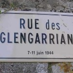 Villons-les-Buissons, plaque Glengarrians