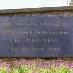 Vimoutiers, plaque soldats canadiens