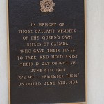 Anisy, monument The Queen's Own Rifles