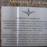 Annebault, stèle 9th Battalion Parachute Regiment