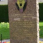 Auberville, stèle Brigade Piron