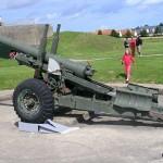 Merville-Franceville, musée de la Batterie, canon britannique