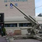 Ouistreham, le Grand bunker musée du Mur de l'Atlantique, canon FLAK 88