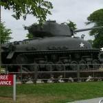 Sainte-Mère-Eglise, musée Airborne, tank Sherman M4