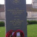 Escoville, stèle libérateurs britanniques