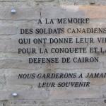 Cairon, monument libérateurs canadiens