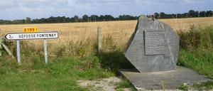 Cardonville, monument lettrine