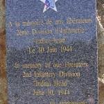 Cerisy-la-Forêt, monument 2nd Infantry Division