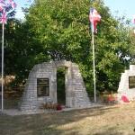 Conteville, monument soldats britanniques & 1re division blindée polonaise