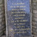 Conteville, monument Major Stokes