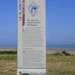 Courseulles-sur-Mer, totem 14 juin 1944