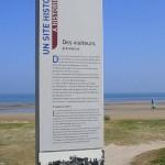 Courseulles-sur-Mer, totem visiteurs juin 1944