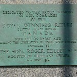 Courseulles-sur-Mer, monument Royal Winnipeg Rifles