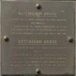 Courseulles-sur-Mer, plaque Nottingham Bridge