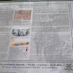 """Crépon, panneau """"1940-1944 les Allemands à Crépon"""""""