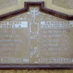 Fontaine-Henry, plaque soldats canadiens