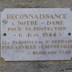 Foucarville, plaque 6 juin 1944