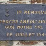 La Chapelle-en-Juger, plaque Percée américaine