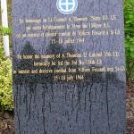 Le Mesnil-Rouxelin, stèle Lieutenant Colonel Thomsen