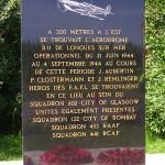 Longues-sur-Mer, stèle Pierre Clostermann & aérodrome B11