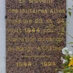 Le Breuil-en-Auge, plaque de la Libération