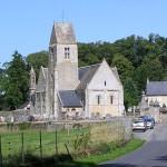 Vaux-sur-Aure, l'église Saint-Aubin du XIIe siècle