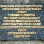 Cretteville, plaque 406th Fighter Group